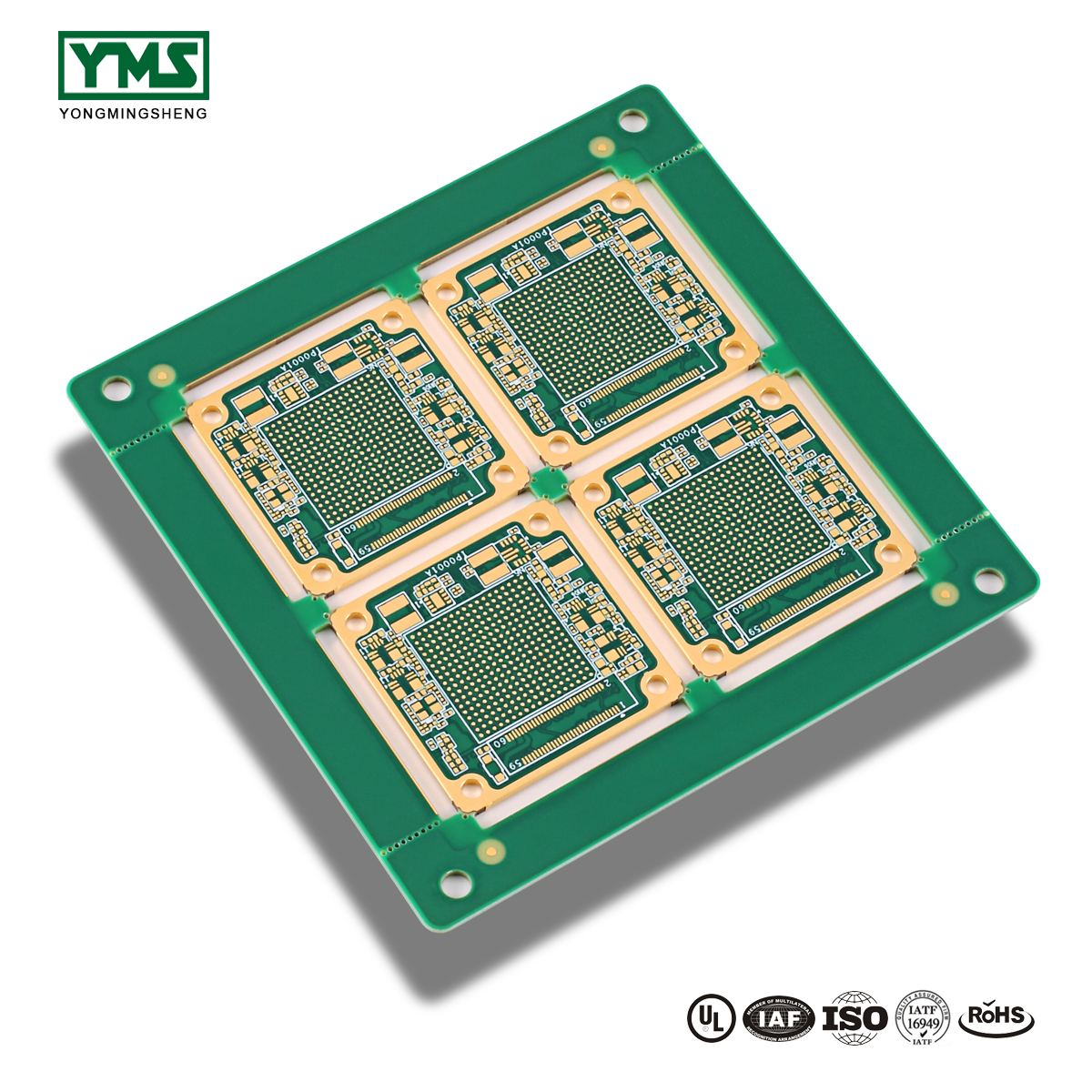 10 Layer High Frequency Hard Gold Board