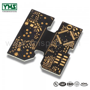 Flex rigid Board semi flex PCB Black Soldermask| YMSPCB
