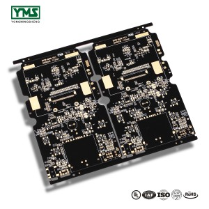 PCB bare board 4L Black Soldermask buried Hole PCB| YMS PCB