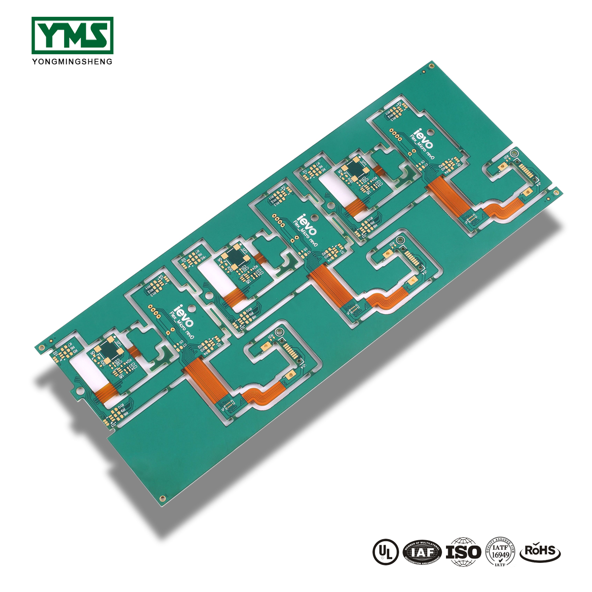 Free sample for High Density Interconnect Pcb(Hdi Pcb) - Immersion Gold,Blue Soldermask flex-rigid Board | YMS PCB – Yongmingsheng