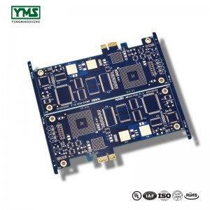 6Layer Emas Finger, Blue Soldermask Board |  YMS PCB