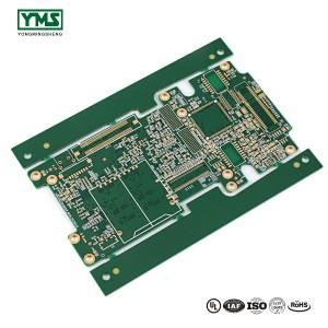 Micro via PCB HDI PCB 8L 1+N+1 Via on PAD  YMSPCB