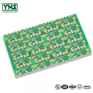 Multilayer pcb Sideplating Selective hard gold Castellated Holes| YMSPCB